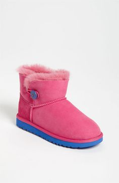UGG® Australia 'Mini Bailey' Button Boot (Walker, Toddler, Little Kid & Big Kid) available at #Nordstrom