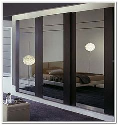 Inspiration Idea Modern Closet Doors For Bedrooms With Modern Contemporary Mirrored Sliding Door Bedroom Wardrobe Closet Wardrobe Interior Design, Wardrobe Design Bedroom, Bedroom Cupboard Designs, Bedroom Cupboards, Modern Bedroom Design, Contemporary Bedroom, Contemporary Doors, Bedroom Designs, Modern Sliding Doors