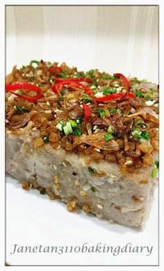 Discover Exactly how to make Chinese Food Treat Asian Snacks, Asian Desserts, Asian Recipes, Chinese Desserts, Chinese Recipes, Yam Cake Recipe, Taro Recipes, Taro Cake, Nyonya Food