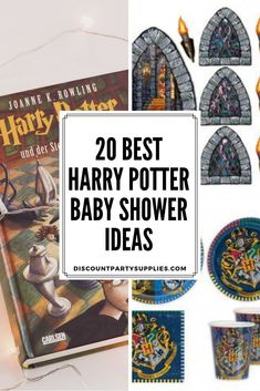 Here are 20 of the best Harry Potter Baby Shower Ideas! Baby Shower Gift Basket, Baby Shower Fun, Baby Shower Themes, Baby Shower Decorations, Shower Ideas, Shower Gifts, Harry Potter Baby Shower, Harry Potter Nursery, Harry Potter Theme