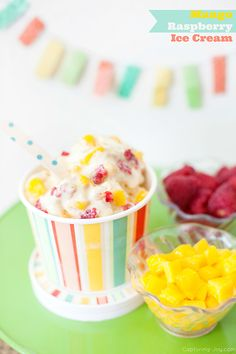 Mango Raspberry Ice Cream - Capturing Joy with Kristen Duke