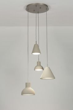 Hanglamp 71967: Modern, Design, Chroom, Grijs