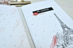 MODELO PARÍS. Tamaño: A6 - 15 x 10,5 cm Portadas: a todo color 300 gramos Interior: 40 páginas de papel reciclado Precio: 3,99€