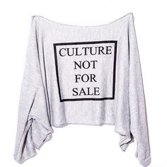 Our well sought after signature oversized (Fits XS - 3XL) off the Shoulder CULTURE NOT FOR SALE crop Sweatshirt is now available online . Feel Free to follow us on our OFFICIAL SOCIAL MEDIA PHATFORMS as we update them with product launch dates , contests /giveaways + more . ✅FACEBOOK (NEW): Dope On Arrival NYC ✅TUMBLR :DopeOnArrivalNYC ✅TWITTER: DOANYC_ ✅EMAIL: DopeOnArrivalNYC@gmail.com  Order today make a statement and hash tag us tomorrow.  www.DopeOnArrivalNYC.comyyyyy