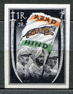GERMANY WW2 PRIVATE ISSUE INDIA AZAD HIND                                                                                                                                                     More