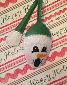 Spoon Snowman Ornament by RitziesCreations on Etsy