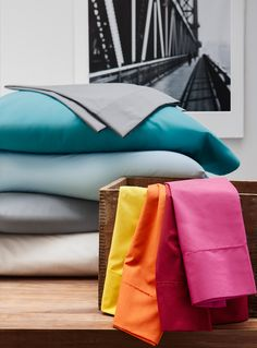 Colour us comfortable | Percale plus sheet, 200 thread count | La Maison Simons #bedding #home #decor