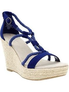 OMG, I have to get me some of these Sueded-Rope wedges from Old Navy!