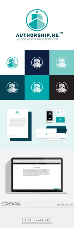 www.serifaria.com [ SERIFARIA   graphic design studio ] Identidade visual desenvolvida para a startup Authorship.me .
