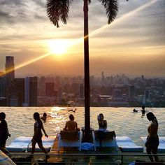 All Day.!  #aussichtizda  (hier: Marina Bay Sands Rooftop Pool & Skydeck)
