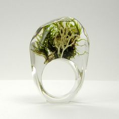 Clear  Moss Ring mix by sisicata on Etsy, $40.00