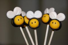 Custom Bumblebee Cupcake Toppers by raspberrypink on Etsy