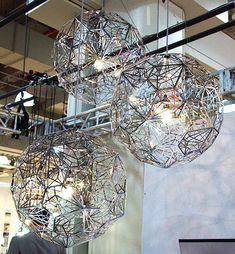 ICFF My Favorite Hanging Lights + Pendants simply awesome Pendant Lamp, Pendant Lighting, Tom Dixon Lighting, Salon Lighting, Pendant Design, Unique Lighting, Globe Lights, Ceiling Design, Hanging Lights