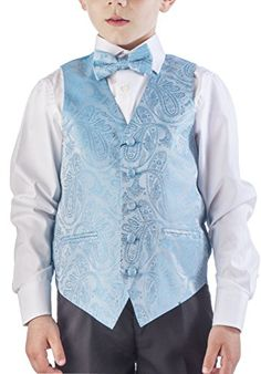 093f08baee18 Alberto Cardinali Boys Dress Vest Paisley 4pc Set Large 1416 Turquoise     Check out this great product.Note It is affiliate link to Amazon.