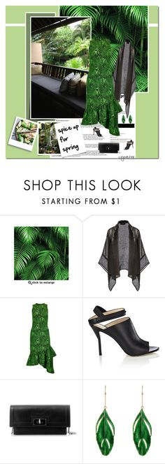 """Tropical palm"" by cybelfee ❤ liked on Polyvore featuring KEEP ME, Eskandar, House of Holland, Givenchy and Aurélie Bidermann"