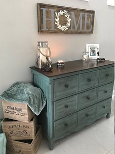 Rustic decor, home decor, diy, home sign, teal furniture, bureau, farmhouse crates, home decor, diy, style, modern, candles, blanket storage, Farmhouse Home Rustic Wood Sign with Hidden Mickey (aff link)