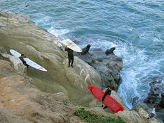 La Jolla Cove, San Diego.  I want to learn to surf.