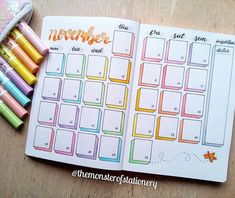Hi Stationery Monsters, here is my monthly layout . - Hi Stationery Monsters, here is my monthly layout . - Hi Stationery Monsters, here is my monthly layout . - Hi Stationery Monsters, here is my monthly layout . Bullet Journal School, Bullet Journal Inspo, Bullet Journal Banner, Bullet Journal Tracker, Bullet Journal Notebook, Bullet Journal Aesthetic, Bullet Journal Themes, Bullet Journal Calendar Ideas, Bullet Journal November Layout