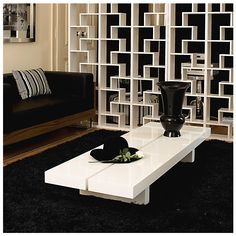 Modern Italian design is represented by Globe Glass Coffee table