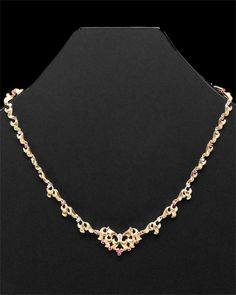 vintage ruby and diamond necklace