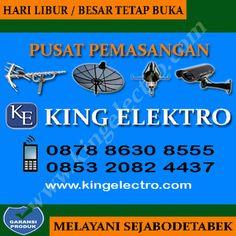 KING ELEKTRO Agen Resmi Pasang Antena tv - Parabola - Cctv - Anti Petir Head Office Jl Dr Semeru Raya No.1 Grogol Jakarta Barat Phone: 0851 0846 8555 - 0898 7825 665 ( www•kingelectro•com )  1.Parabola Sisrem Fixed 4 Satelit 200 Chanel (Palapa - Telkom - Asiasat 7 - Asiasat 5 Lokal-Mancanegara & Rohani ) Harga Paket Rp.1.800.000 + Pasang Kelengkapan Yang Didapat: 1. Set Dish Jaring 7 Feet 1. Batang Tiang Triport 1. Unit Receiver Mpeg 2 1. Set Lnbf Venus 10 Meter Kabel Coaxial RG 6 75 OHM…