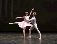 Evgenia Obraztsova and Semyon Chudin in Tchaikovsky Pas de Deux. gif