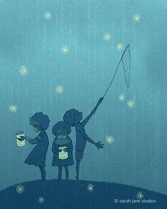 Attraper des lucioles par sarahjanestudios sur Etsy