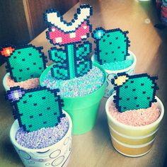 Plants with hama beads by Rosi Pixels