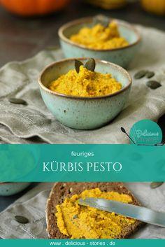 Feuriges Pesto aus Hokkaido Kürbis. Perfekt auf's Brot oder zu Pasta.