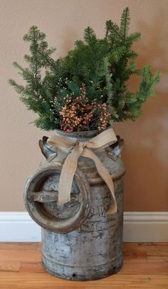21 Rustic Christmas Decorations, Keep It Simple (Rustic Christmas Porch)