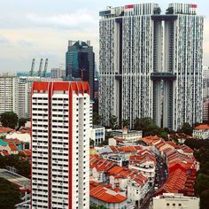 Pinnacle@Duxton dominating views from Chinatown.