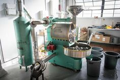 teal coffee roaster - Google Search