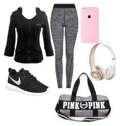 """Workout Time #1"" by cisariaburch on Polyvore featuring Topshop, NIKE and Beats by Dr. Dre"