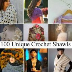 A must to bookmark: 10,000+ Crochet Patterns and Pieces to Inspire You: 100 Unique Crochet Shawls