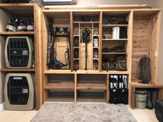 Gun Safe Room, Reloading Room, Hunting Cabin Decor, Fishing Storage, Man Cave Room, Gun Rooms, Decoration, Man Cave Storage, Boys Hunting Room
