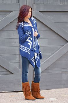 The Distance Between Us Cardigan - Navy from Closet Candy Boutique