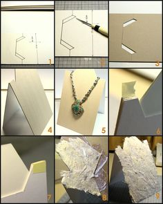 Necklace stands-like handmade paper