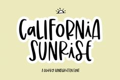 Calfornia Sunrise is a super cute handwritten font with big, quirky letters. There are a ton of alternative letters so that you can make unique designs! Otf Font, Script Logo, Handwritten Fonts, Calligraphy Fonts, Calligraphy Alphabet, Bold Fonts, New Fonts, Monogram Fonts, Monogram Letters