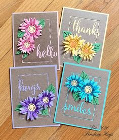 A Card Set by bearpaw - Cards and Paper Crafts at Splitcoaststampers Penny Black, Sunflower Cards, Card Sketches, Scrapbook Sketches, Stampin Up Cards, Altenew Cards, Card Kit, Card Making Inspiration, Birthday Cards