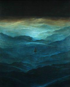 Zdzisław Beksiński - Lost at Sea (http://zdzislaw-beksinski.blogspot.com/p/paintings.html)