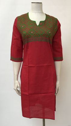 Sindhi Hand Embroidered Kurta Best Embroidery Machine, Hand Embroidery Dress, Embroidery Neck Designs, Indian Embroidery, Embroidery Fabric, Embroidery Stitches, Fancy Dress Design, Kids Dress Patterns, Casual Dresses