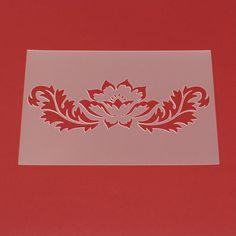 Schablone Blume Distel Ornament - MF70 von Lunatik-Style via dawanda.com