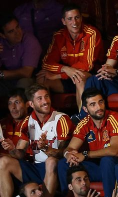David silva sergio Ramos Raul Albiol and Fernando Torres