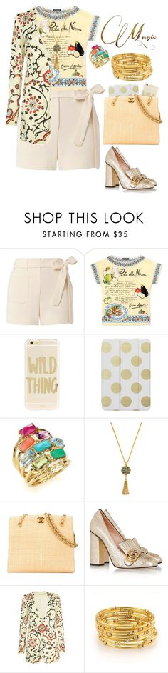 """""""Helmet Lang shorts #goldcolor"""" by mbarbosa ❤ liked on Polyvore featuring Helmut Lang, Dolce&Gabbana, Sonix, Agent 18, Ippolita, Jose & Maria Barrera, Chanel, Gucci and Alice + Olivia"""