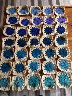 Manta tejida a crochet, Lana Rowan colorscape