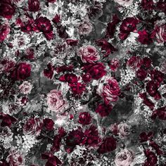 by VS Fashion Studio Seamless Repeat Royalty-Free Stock Pattern Print Design, Floral Design, Midnight Garden, Decoupage Paper, Textile Prints, Fashion Studio, Fall Winter, Autumn, Wallpaper Backgrounds