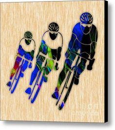 Bicycle Painting Canvas Print / Canvas Art By Marvin Blaine