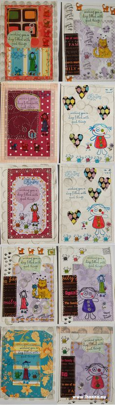 In this year's postcard swap my mom went into total paper play mode, cutting out paper shapes, gluing stuff down, stamping everything and then also adding decorative patterns with her fancy sewing machine, making her 10 awesine stamped postcards. I … Continue reading →