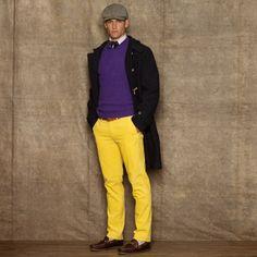 Dark Purple Corduroy Dress Pants for Men | Men's Fashion ...