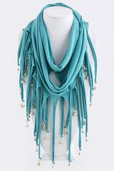 Infinity Dangled Butterfly Bead Scarf